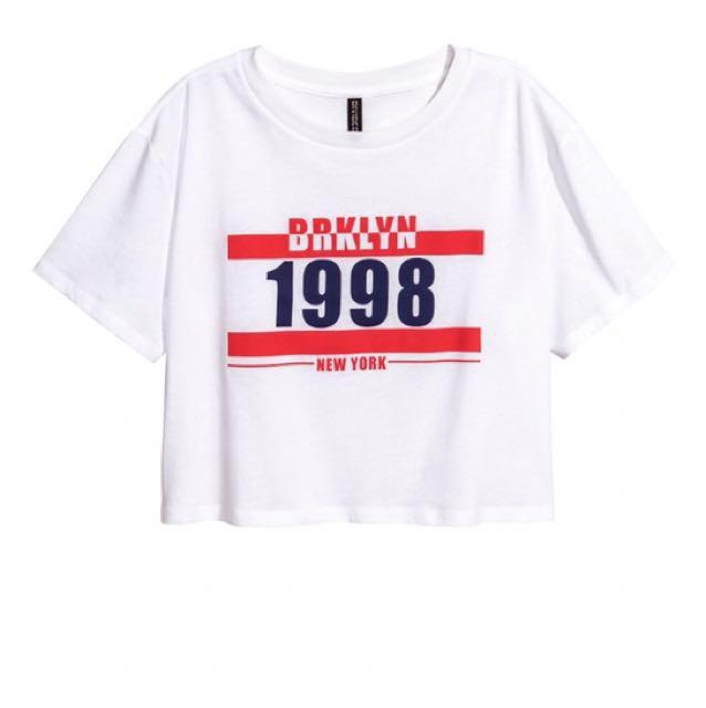 H&M Brklyn-NY 1998 Crop T-Shirt
