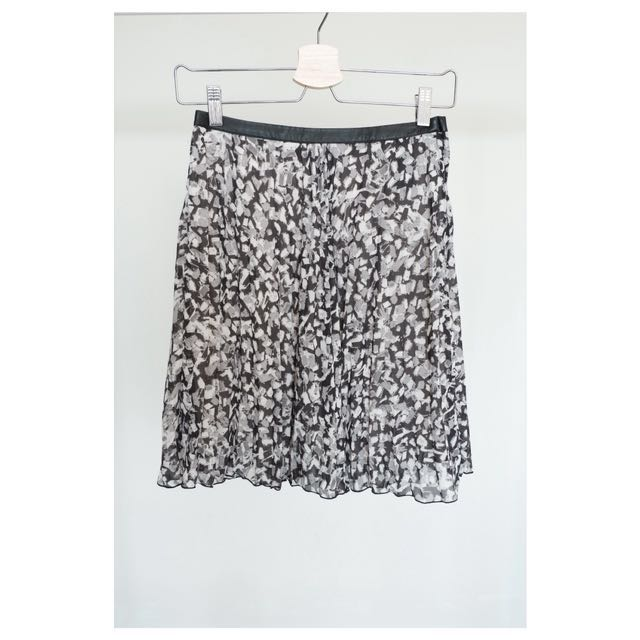 H&M Skirt with Leather Band Accent