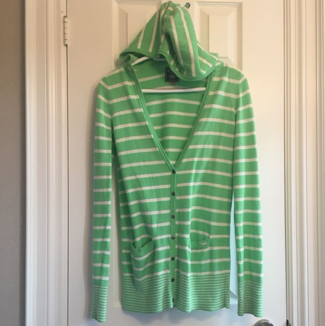 Hooded VS PINK Button Up Sweater Size S