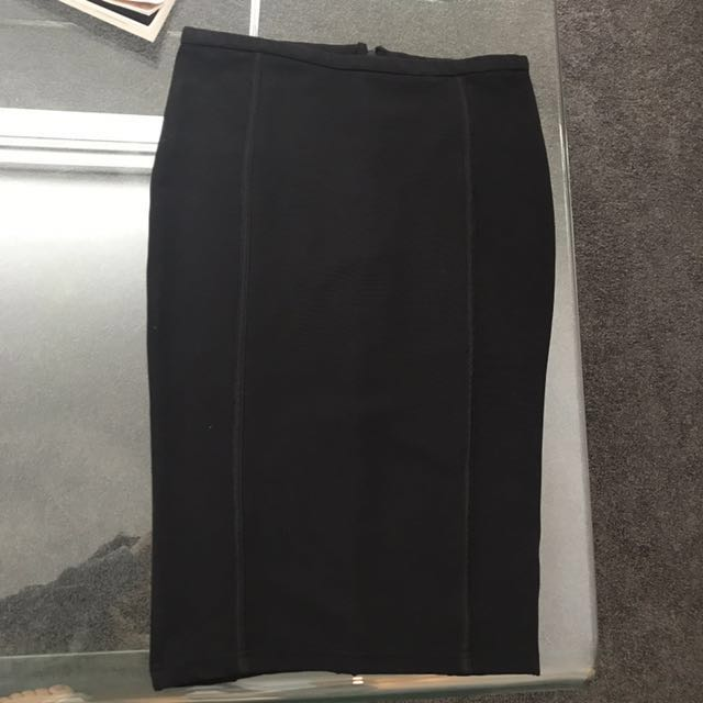 Kardashian black pencil skirt