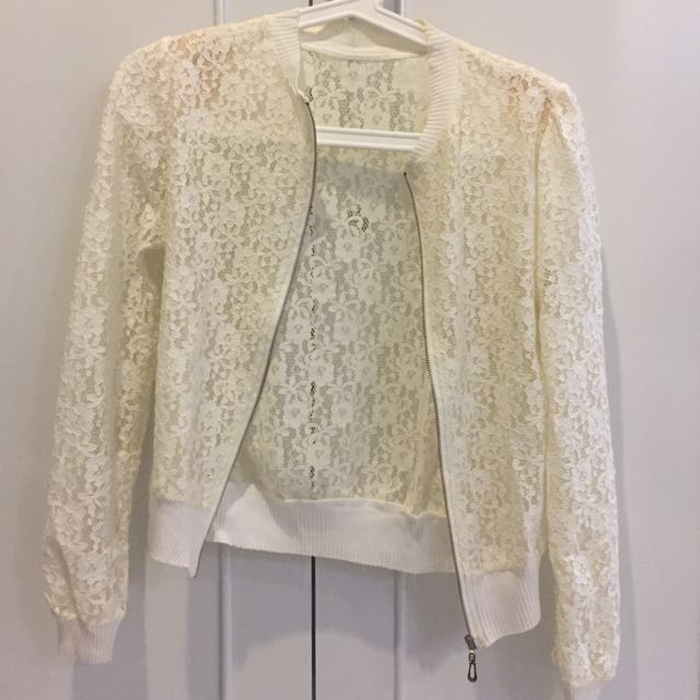 Lace white cardigan