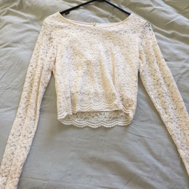 Lacey Long Sleeve Crop Top