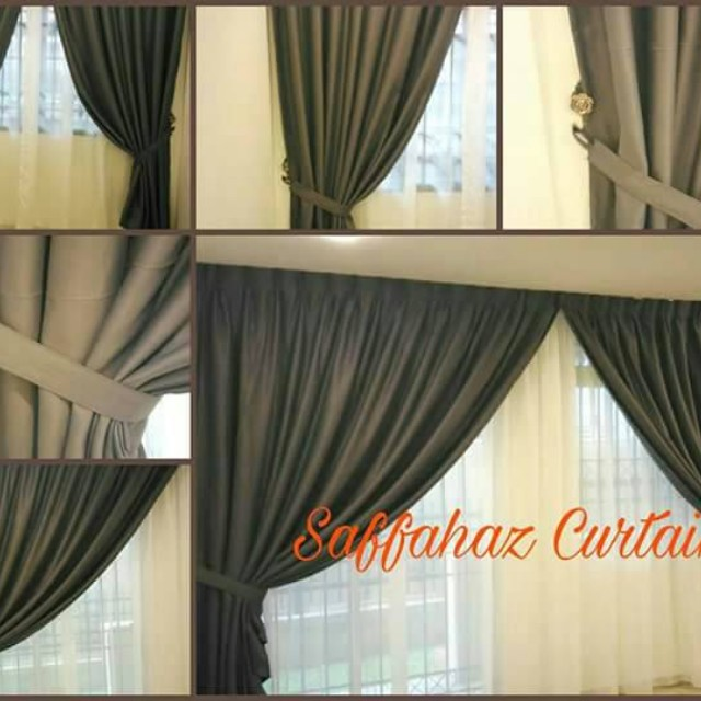 Langsir Sunblock Curtain Pelbagai Warna Home Furniture Décor On Carou