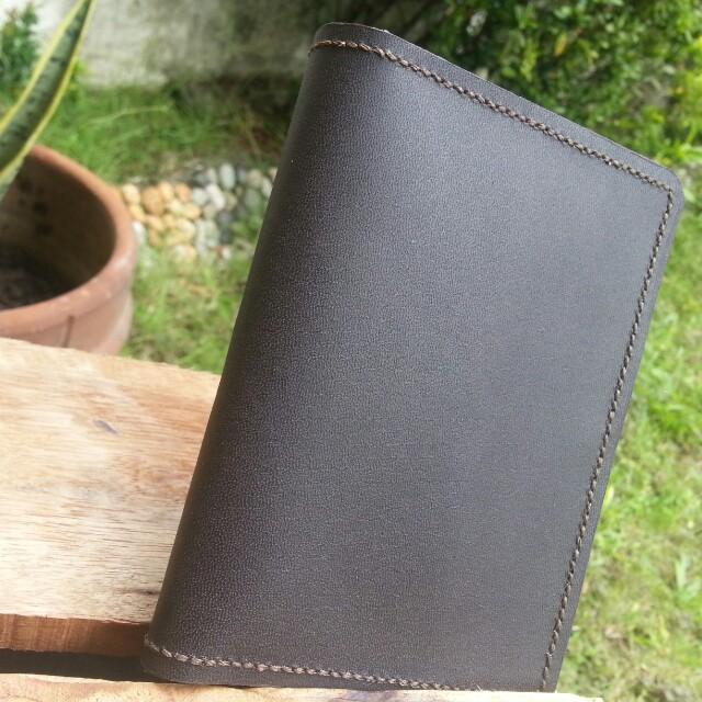 Leather Passport Holder - Brown