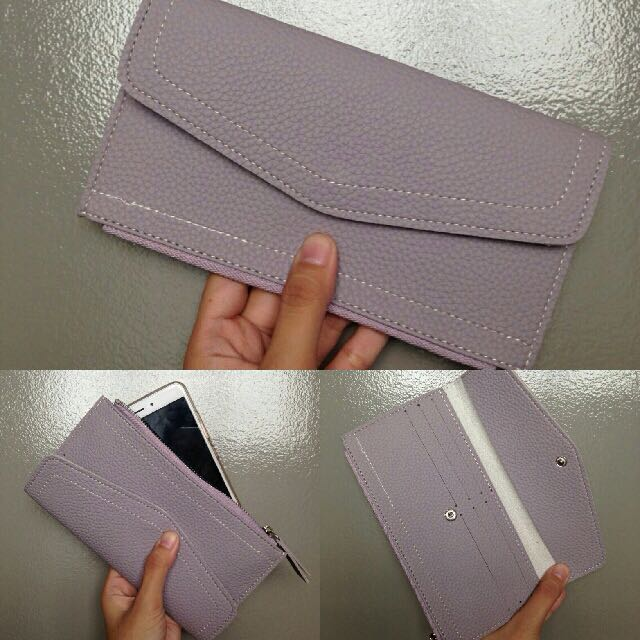 Lilac Pastel Wallet Pouch Free Shipping For Metro Manila