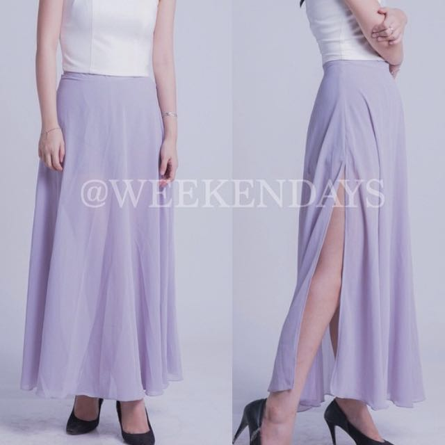 Long Skirt Grey / Abu