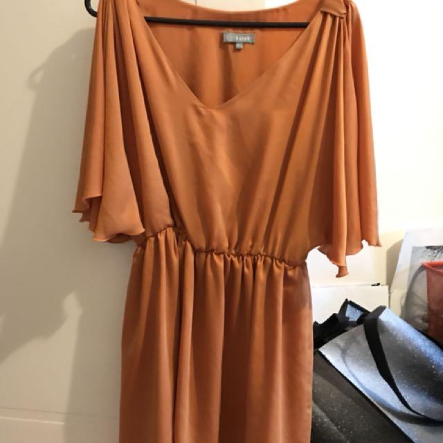 Love fashion dress size m/l orange pumpkin dress grecian