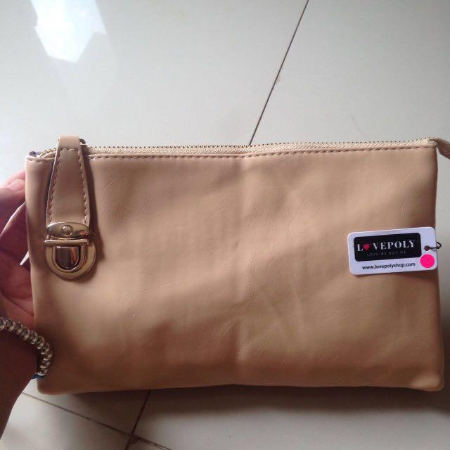 [L❤️VEPOLY] Crème Sling bag