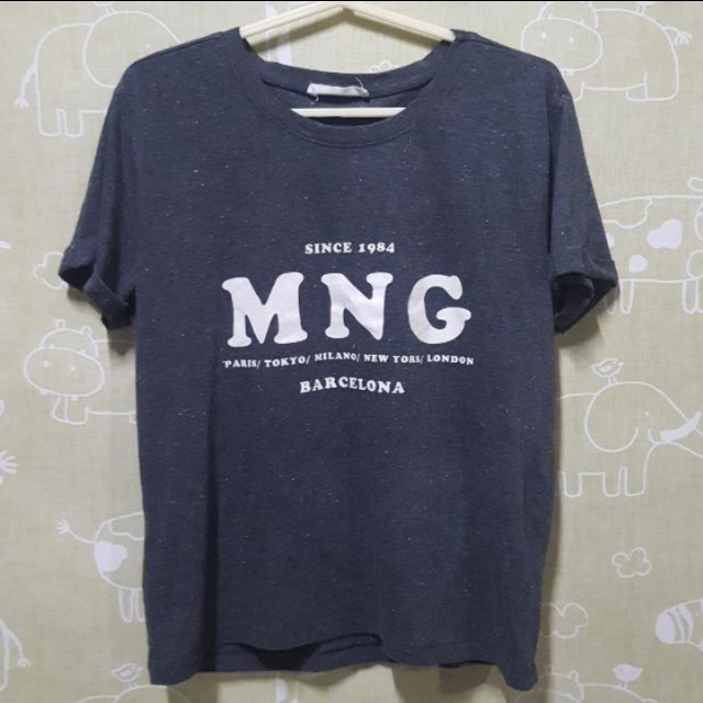 MANGO Gray Shirt