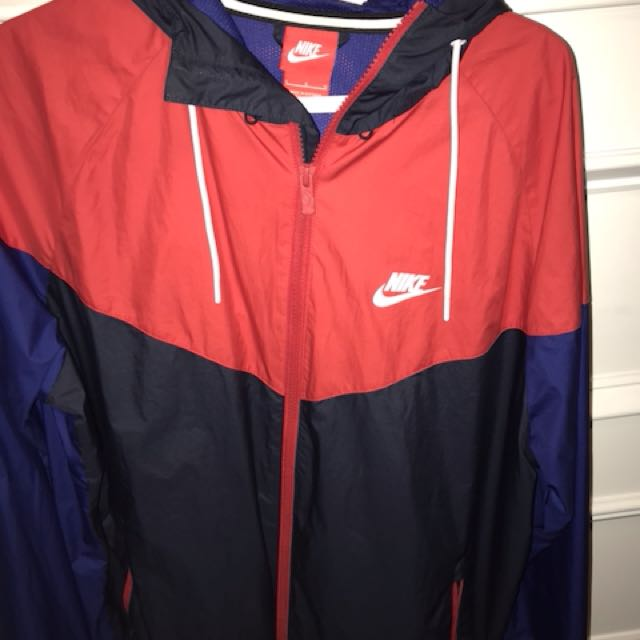 Men's NIKE red and navy blue windbreaker