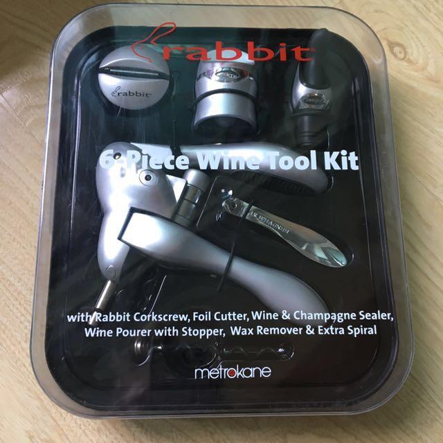 Metrokane Rabbit 6-piece wine tool kit - Silver
