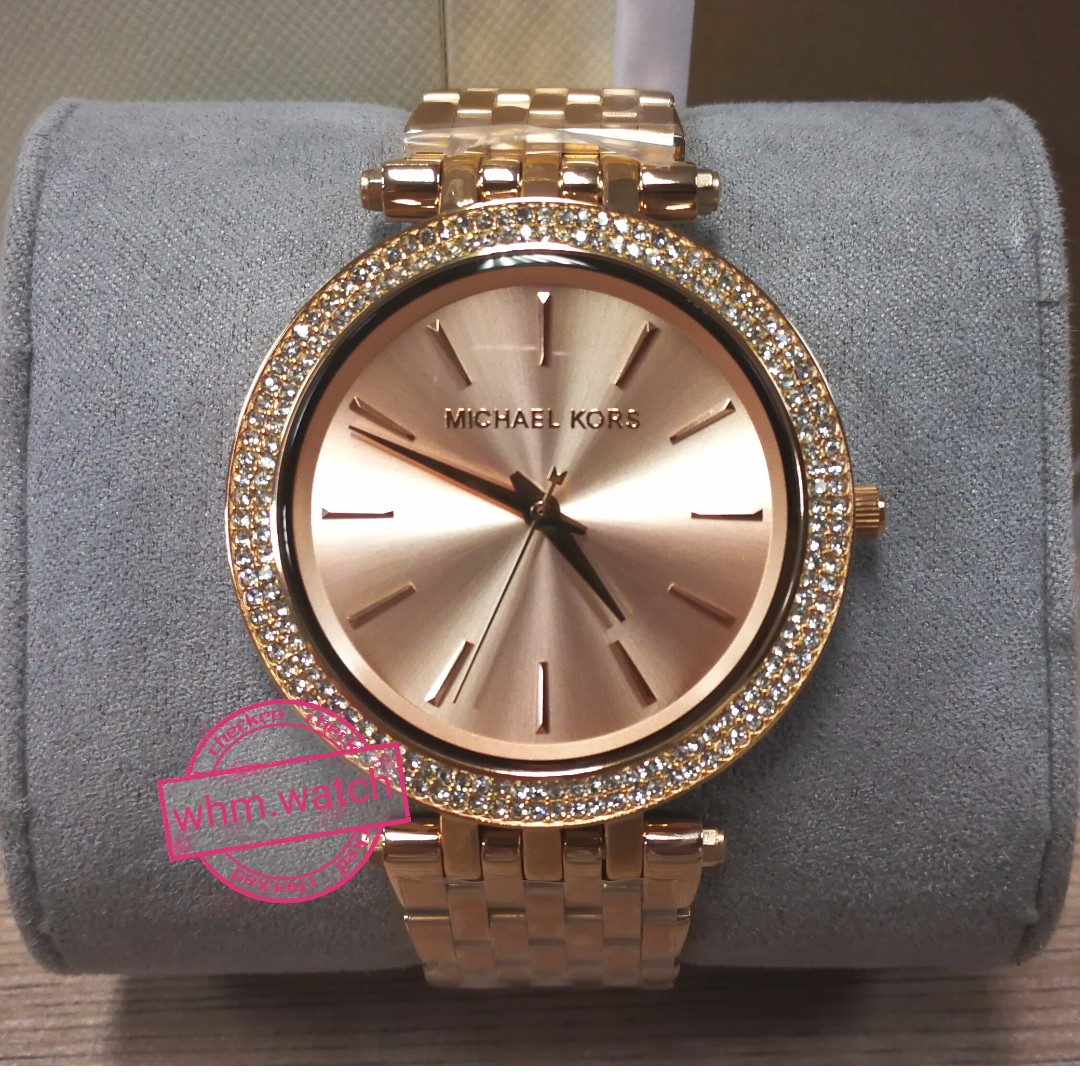 994036d3d7f6b MICHAEL KORS MK3192 Darci Pavé Rose Gold-Tone Watch