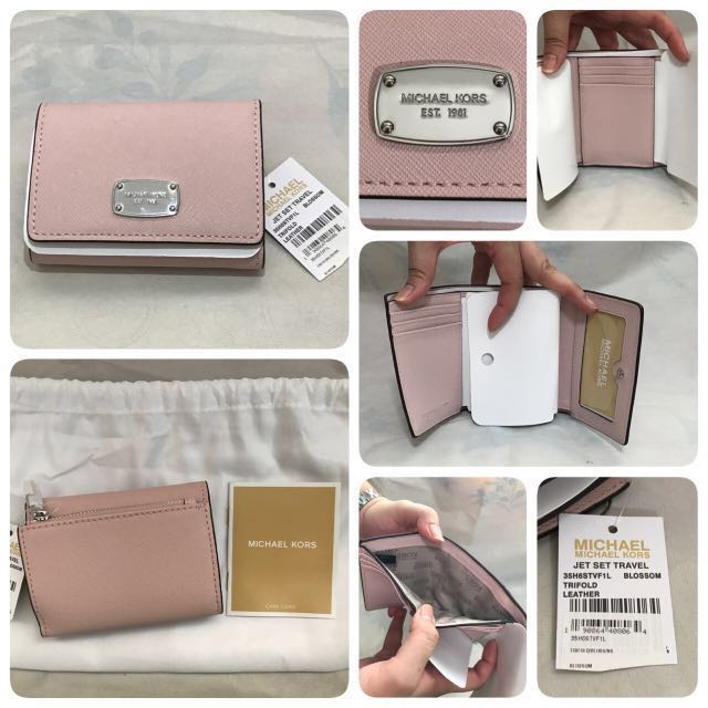 285f3e704113 Michael Kors Small Tri-fold Saffiano Leather Wallet  Authentic New ...