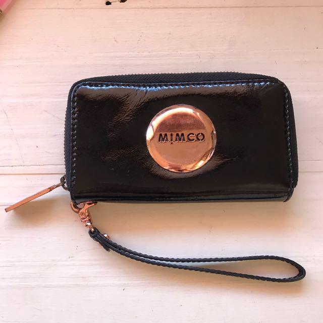 Mimco Wallet - Black & Rose Gold