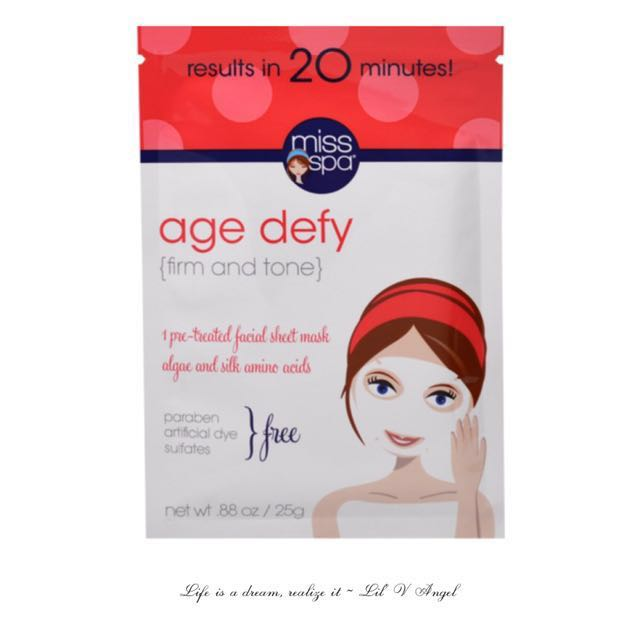 Miss Spa, Age Defy, 1 Pre-Treated Facial Sheet Mask(pack of 6) Melaperfect Hyper Pigmentation Skin Tone Brightening Moisturizer SPF 20  (Normal to Dry Skin) 1.7oz