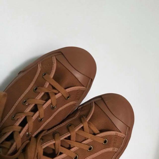 Moonstar x studio nicholson 核桃色 帆布鞋