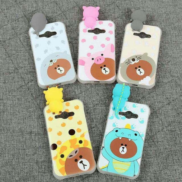 New Silicone 3D Case Intip Line Brown only 45.000