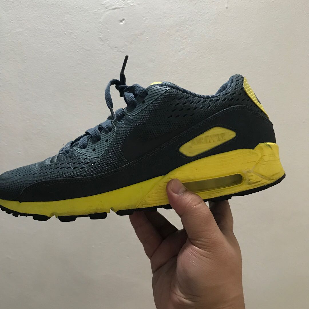 the latest 2f916 e9f21 Nike Air Max 90 PRM Comfort EM Armory Blue Yellow, Men s Fashion, Footwear  on Carousell