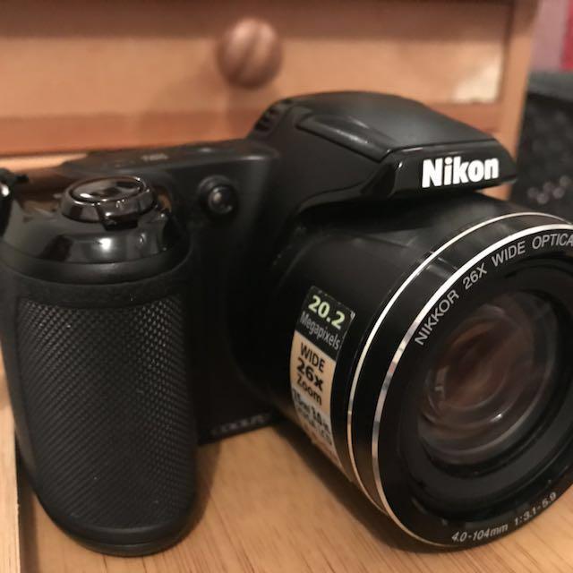 Nikon Camera (CoolPix L330) + accessories