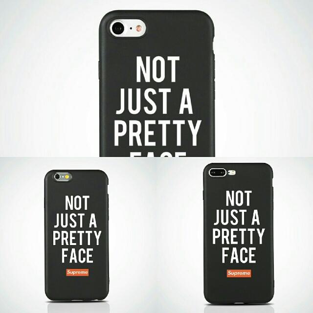 NOT JUST A PRETTY FACE Soft Matte iPhone Case