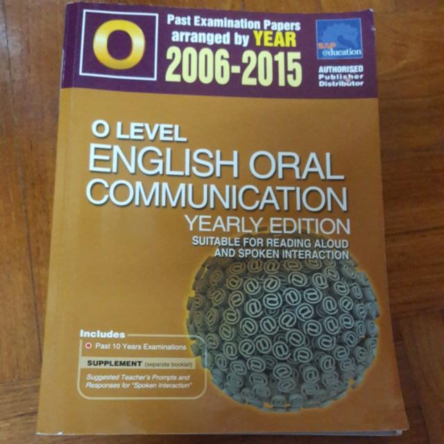 O level english oral communication book
