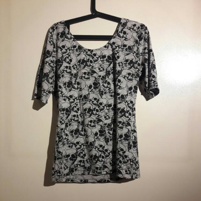 Offshoulder Skull blouse