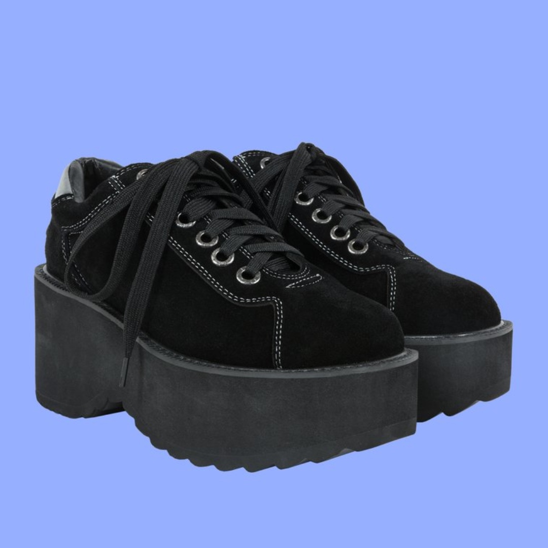 [oli]unif The Planet Platform 黑色厚底鞋