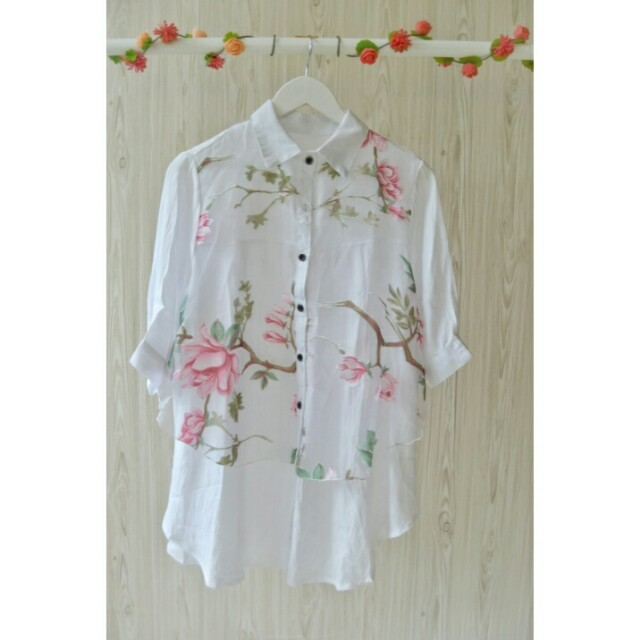 Organza white blouse
