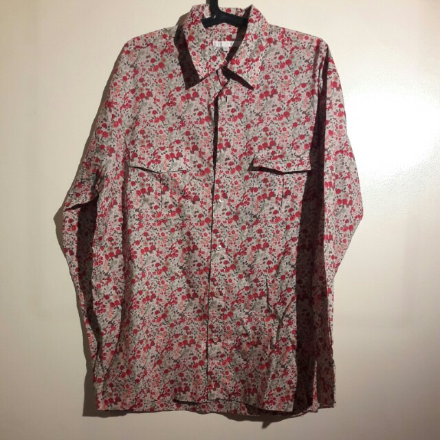 Original Perry Ellis Floral Polo