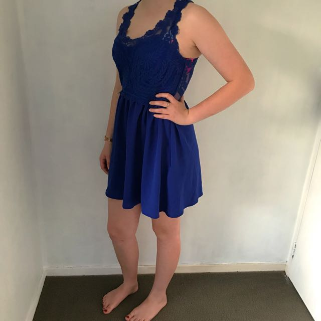 *Price Negotiable* Blue Lace Dress
