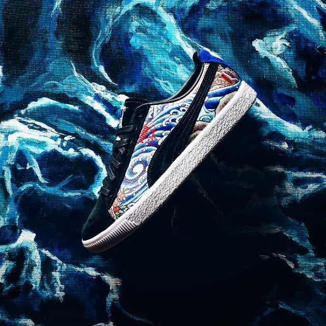 uk availability eb8f4 10a46 Puma Clyde X Atmos T.T.T