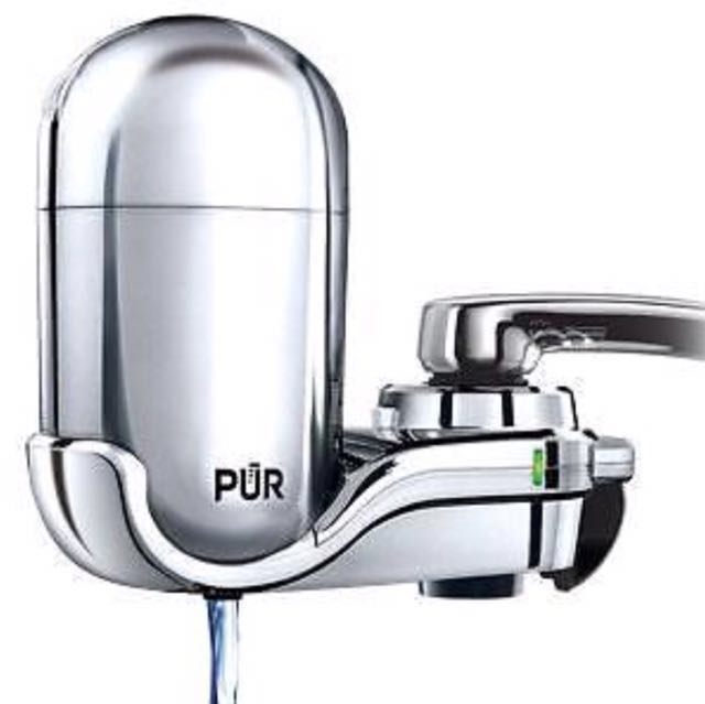 PUR Chrome faucet-mounted water filtration system (water filter)