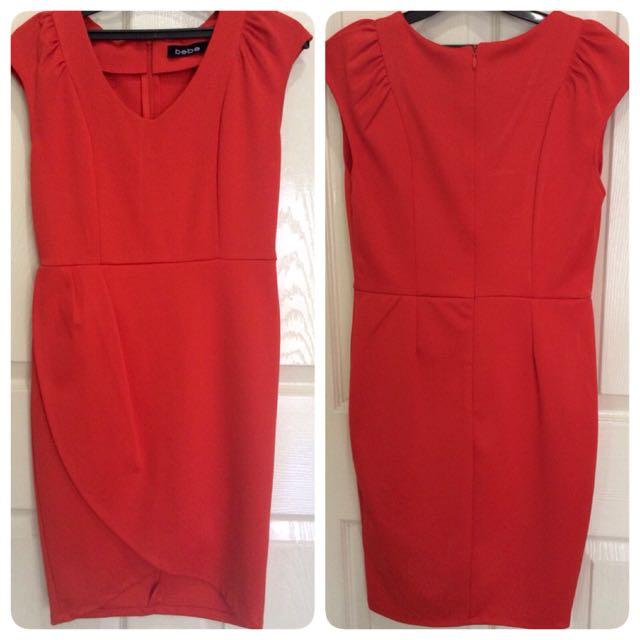 Red Dress bahan wedges