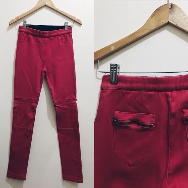 Red Stretchable Pants