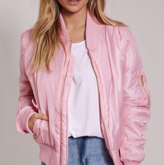 REDUCED Baby Pink Bomber Jacket