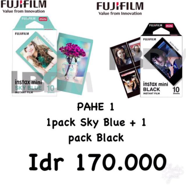 Refill Instax Black + Sky Blue (20 Sheet)