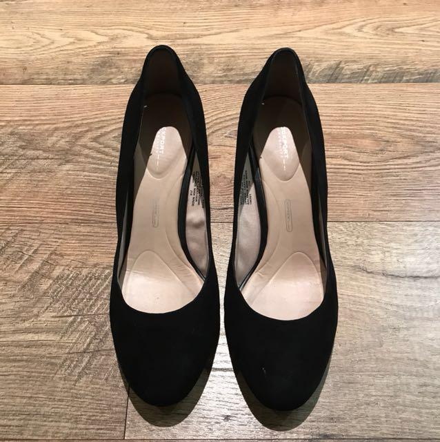 Rockport Walkability Black Suede Shoes, size 8.5 (euro 39)
