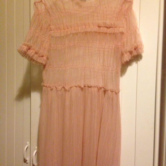 Sheer Pink Topshop Dress