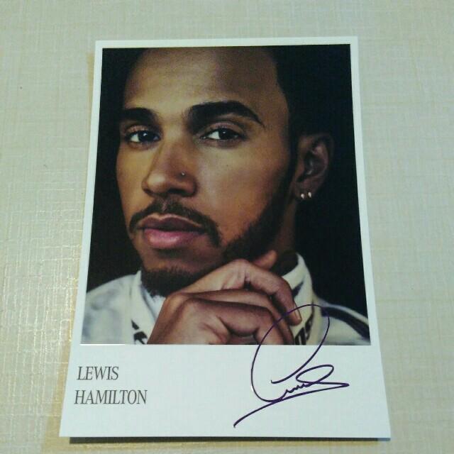 8277a259c92 Signed Lewis Hamilton 2017 MERCEDES-AMG Petronas Autograph Card ...