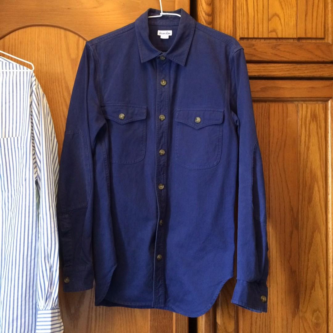 steven alan indigo shirt new york muji uniqlo cdg comme des garcons 藍染 japan