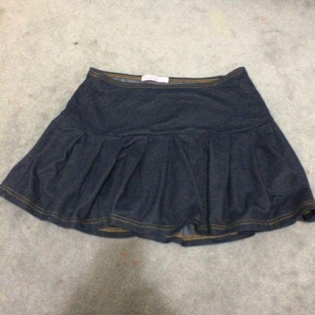 Supre Denim Skirt Size