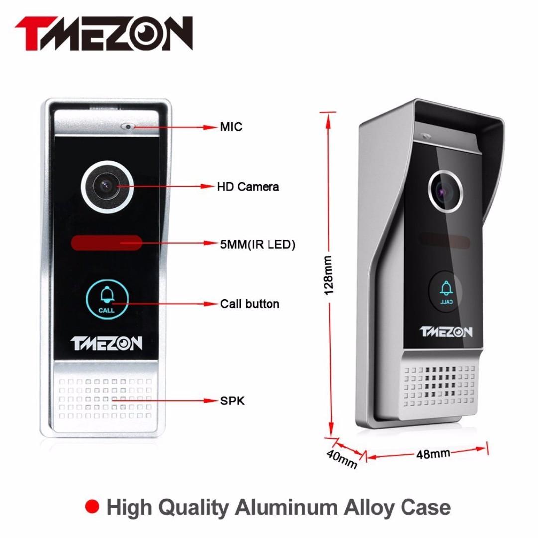 Tmezon Wirelesswired Wifi Ip Video Door Phone Doorbell Intercom