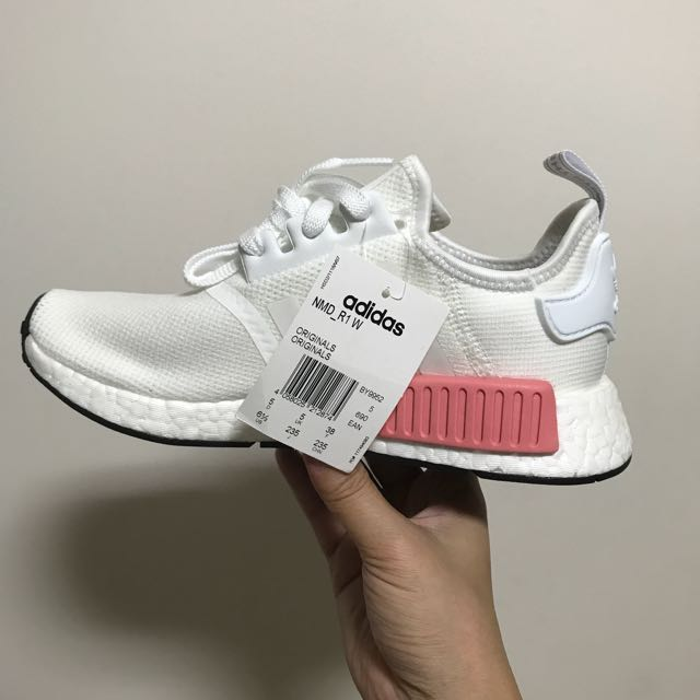 best service d2b20 cbad1 UK5 Adidas NMD R1 Women Color Footwear White/Footwear White ...