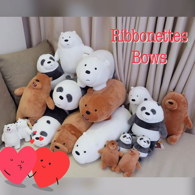 We bare bear plushies