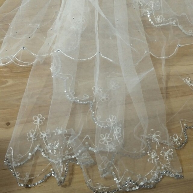 Wedding Veil with crystal