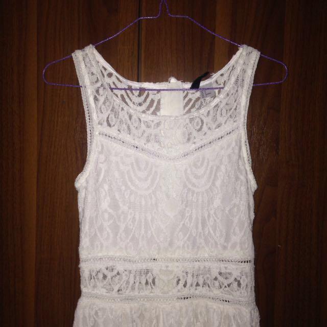 White Boho (Bohemian) Dress