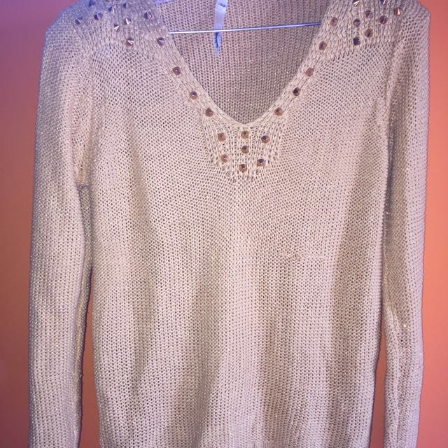 Wool Sweater With Spikes