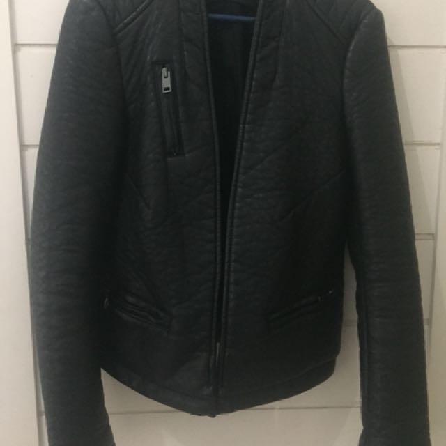 Zara leather jacket limited ed