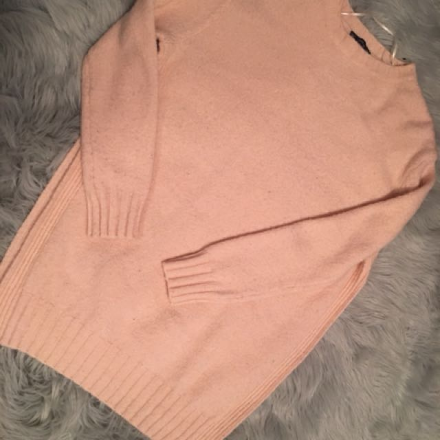 Zara wool sweater with high slits