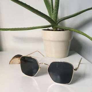 Free People Geometric Sunglasses